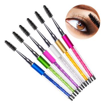 Eyelashes Makeup Brush Curler Crystal Decoration Eye Lashes Mascara Applier Eyebrow Brushes