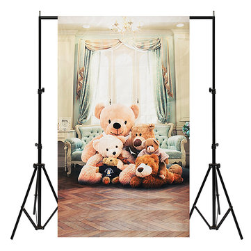 3x5ft Bear Vinyl Photography Backdrop Background Studio Baby Child Photo Props