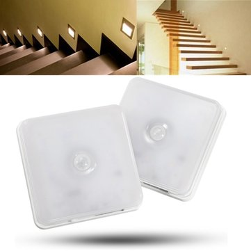 Wireless 8 LED Rechargeable PIR Motion Sensor Night Light Cabinet Lamp With Hanging Strap