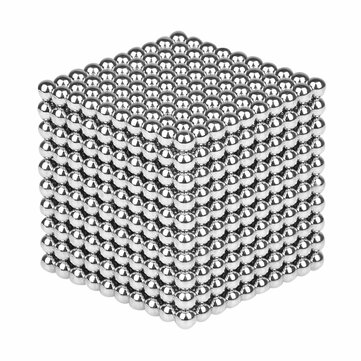 1000PCS Per Lot 5mm Magnetic Buck Ball Magnet Silver Intelligent Stress Reliever Toy Gift