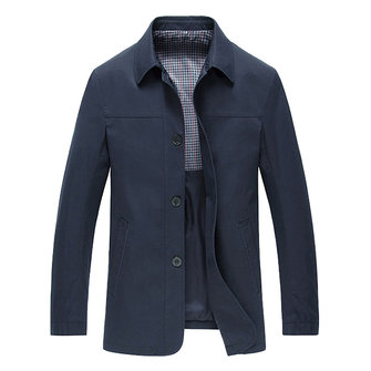 Men Pure Color Spring Business Casual Single-breasted Jacket