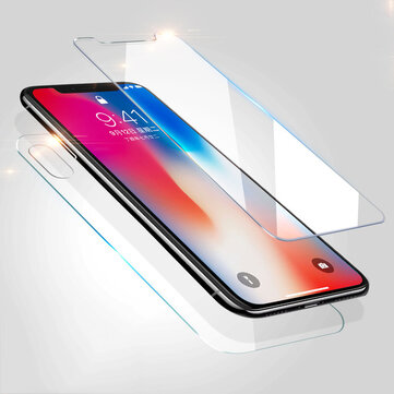 Bakeey™ 0.26mm 2.5D Front Rear Tempered Glass Film Screen Protector for iPhone XS/X