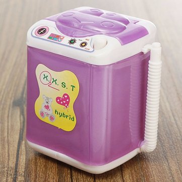 Dollhouse Wind Up Washing Machine Laundry Room Furniture Accessories