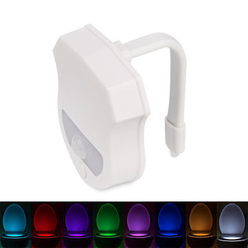 Bathroom 16 Colors Sensor LED Toilet Night Light Body Motion Activated Backlight LED Lamp Toilet Light