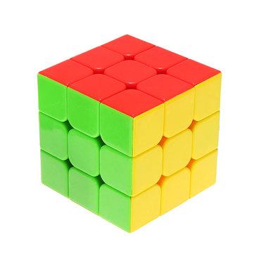 Classic Magia Cube Giocattoli 3x3x3 PVC Sticker Block Puzzle Velocità Cube Colore dello zucchero