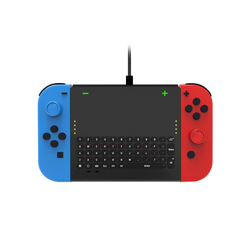 Dobe TNS-1702 2.4G Wireless Keyboard with Joy-con Holder for Nintendo Switch Game Console
