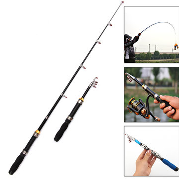 ZANLURE 1.2m 2.3m Glass Fiber Short Mini Telescopic Fishing Rod Ultra Light Travel Rod Sea Fishing