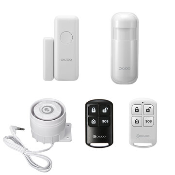 Digoo 433MHz Window Door Sensor PIR Detector Wireless Remote Controller External Alert Siren Accessories for HOSA HAMA Security Alarm System
