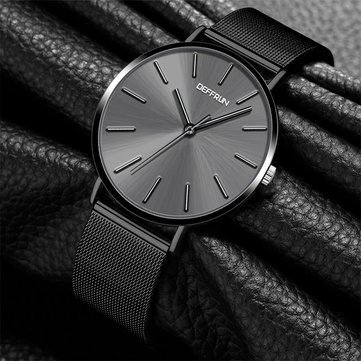 DEFFRUN DQ0003 Ultra Thin Casual Style Women Watches Milan Stainless Steel Strap Quartz Watch