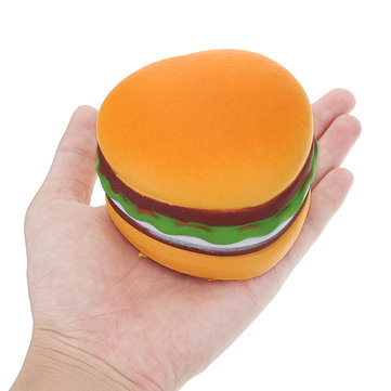 Squishy Love Heart Hamburger 8cm Burger Soft Slow Rising 8 Seconds Bread Collection Gift Decor Toy