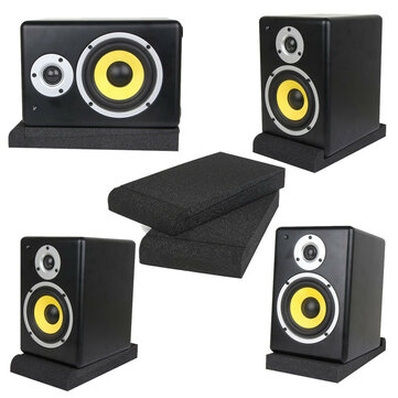 A Pair Of Studio Monitor Speaker Foam Isolation Pads New