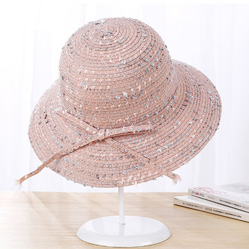 Summer Sunshade Visor Beach Sun Hat For Women Fashion Decorative Outdoor Bucket Cap