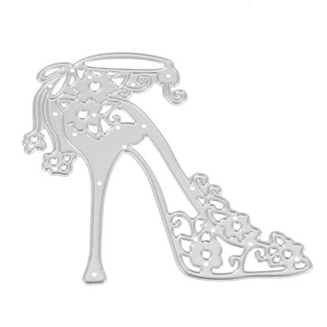 High-heeled Shoes Metal Decorative Scrapbooking Paper Cutting Dies Template Stencils for Photo Album