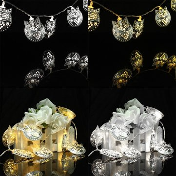 10 LED Owl Party String Lights Outdoor Garden Christmas Wedding Decor