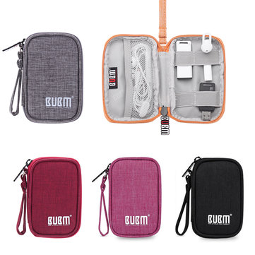 BUBM Storage Bag Earphone Cable Case Soft Nylon Travel Storage Case Cover
