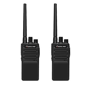 2PCS QUALAG M8 16 Channels 400-480MHz 2-6 KM Hotel Civilian Two Way Handheld Radio Walkie Talkie