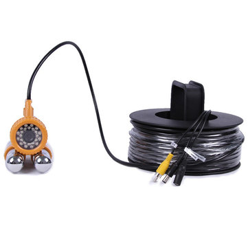CR-006A PAL NTSC Under Water Camera 24Pcs White LED Double Rod for Fishing Fish Finder Camera