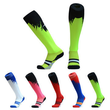 Men's Football Socks Thicken Combed Cotton Towel Above Knee Stockings