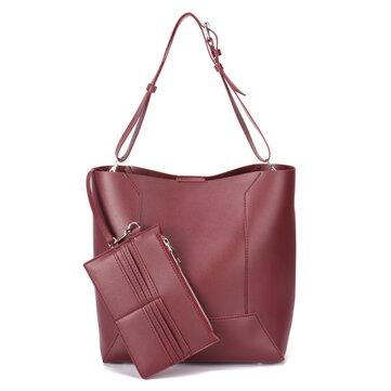 Women Quality PU Leather Composite Bag Handbag Shoulder Bag