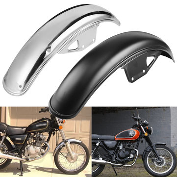 56cm Motorcycle Black Chrome Metal Front Mud Guard Mudguard For Suzuki GN125