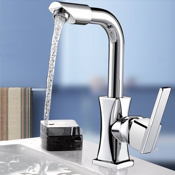 Flexible Chrome Brass Swivel Wash Water Spout Kitchen Sink Single Lever Faucet Mixer Tap