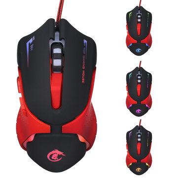 3200DPI Adjustable 6Buttons Optical Colorful Light Gaming Mouse for PC Desktop