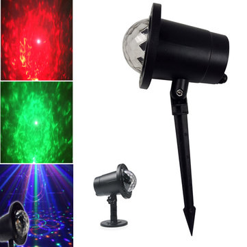 6W RGBW LED Crystal Ball Lawn Stage Light Waterproof Outdoor Garden for Chrismas AC100-240V