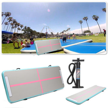 118x35x4inch Inflatable GYM Air Track Mat Home Airtrack Gymnastics Mat Tumbling Mat Yoga Training Pad With Pump