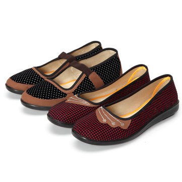 Women Loafers Shoes Casual Cloth Slip On Soft Flats
