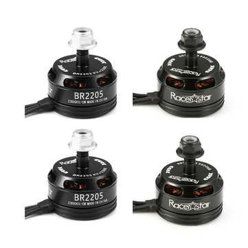 Buy 4X Racerstar Racing Edition 2205 BR2205 2300KV 2-4S Brushless Motor Black For 210 X220 250 280 RC Drone for $29.99 in Banggood store