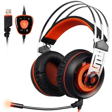 Sades A7 7.1 Surround Sound Bass Gaming Light Headset with Microphone Vibration