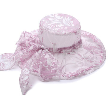 Fashion Printting Wide Brimmed Hat Packable Dress Bucket Hats UV Resistence Sunbonnet For Women