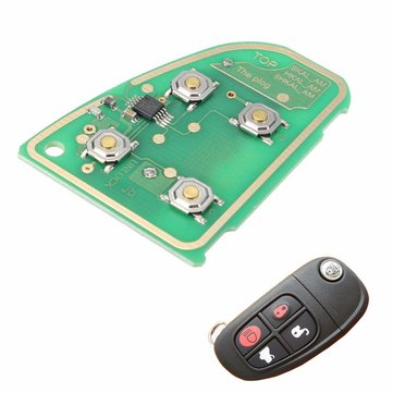 Flip Remote Key Circuit Board 433 Mhz 4 Button for JAGUAR X Type XJ XJR