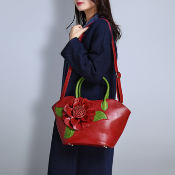 Brenice National Style Fancy With Rose Decoration Handbag