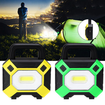 50W COB LED USB Work Light IP65 Waterproof Spotlight Floodlight Outdoor Camping Emergency Lantern