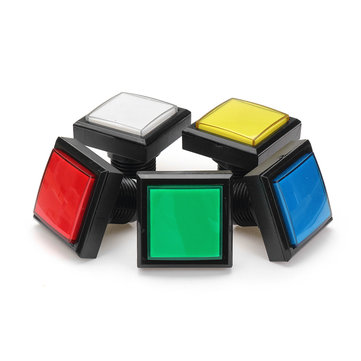 44x44cm Blue Red White Yellow Green LED Light Push Button for Arcade Game Console DIY