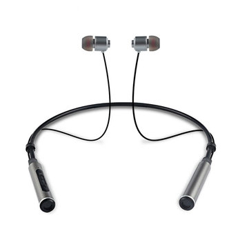 BINAI B22 Double Magnetic Adsorption Wireless Bluetooth Earphone Sports Neckband Headphone with Mic