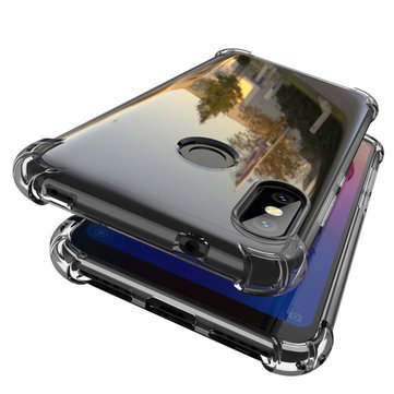 Bakeey Transparent Shockproof Soft TPU Protective Case For Xiaomi Mi A2 Lite / Xiaomi Redmi 6 Pro