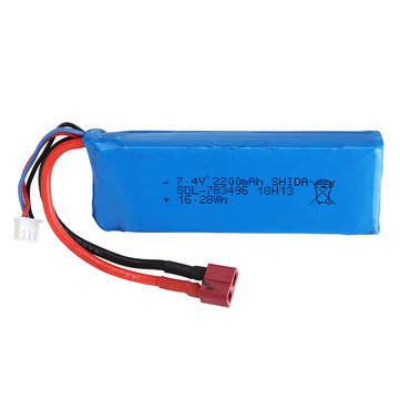 $17.99 for Wltoys 7.4V 2200mAh 20C 2S T Plug Lipo Battery