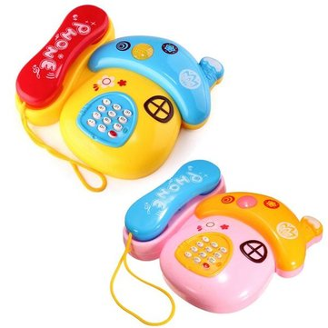 Musical Telephone Colorful Mobile Learning Keyboard Machine Puzzle Electronic Toys Toddlers Sound Kids Gift