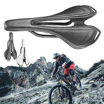 BIKIGHT Carbon Fiber Bike Bicycle Saddle Streamlined Ergonomic Ultralight Road Bike MTB Cycling Seat