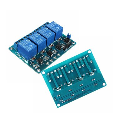 2Pcs Geekcreit® 5V 4 Channel Relay Module For Arduino PIC ARM DSP AVR MSP430 Blue