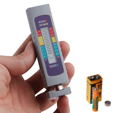 AA AAA 1.5V 9V Lithium Battery Tester Digital Button Battery Capacity Checker Power Measuring Tool