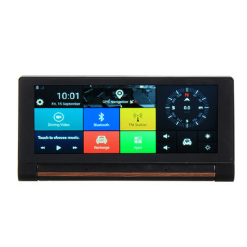 6.86 Inch 3G WiFi bluetooth FM Car Dual Rear View DVR Recorder Camera GPS Navigator