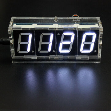 geekcreit diy 4 digit led electronic clock kit temperature light rh banggood com