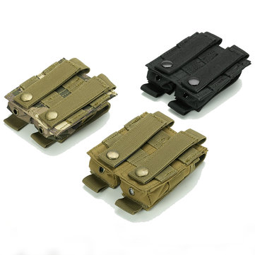 Tactical Double Mag Pouch Molle Quick Access Ammo Clip Pistol Accessories Magazine Holder Bag For Belt Placement