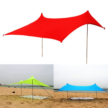 Outdoor 4 Persons 210×210cm Lycra Beach Ultra Lights Camping UV-Proof Fishing Tent Sunshade