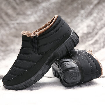 Men Warm Plush Snow Boots