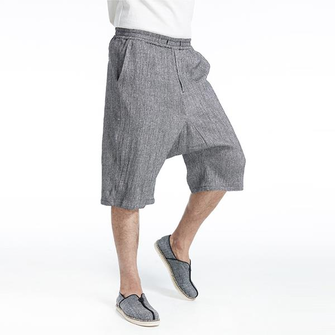 Men's Loose Cotton Linen Shorts