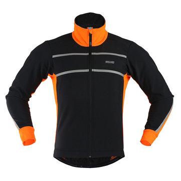 Спортивные состязания мужчин arsuxeo ездящий на велосипеде велосипедный велосипедный жакет пальто свитера sportwear одежда с длинным рукавом